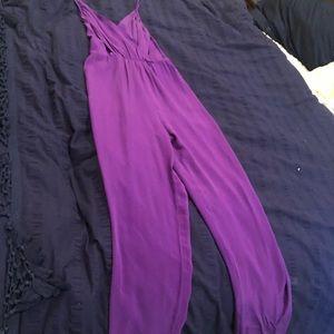 Yurnie Kinn sz small purple romper,